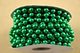 8mm Shiny Emerald Green Metallic Strung Bead Garland on Spools (3 Spools - 72 Feet Total) for Wedding Favors, Crafts, Decorations & More