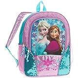 """Disney Frozen Full Size 16"""" Backpack - Blue/Purple"""