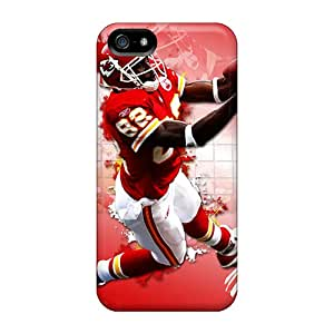 Iphone 5/5s Scn5840JSbV Custom Stylish Kansas City Chiefs Pattern Bumper Cell-phone Hard Covers -Marycase88
