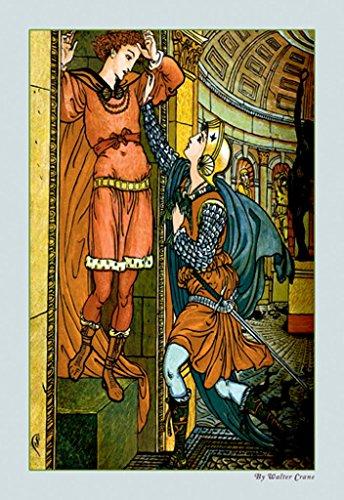- ArtParisienne Princess Belle-Etoile Rescues Prince Chéri Walter Crane 20x30 Poster Semi-Gloss Heavy Stock Paper Print