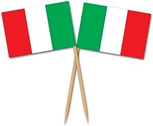 Beistle Italian Flag Picks 2.5-Inch (50-Count) , Red/Green/White