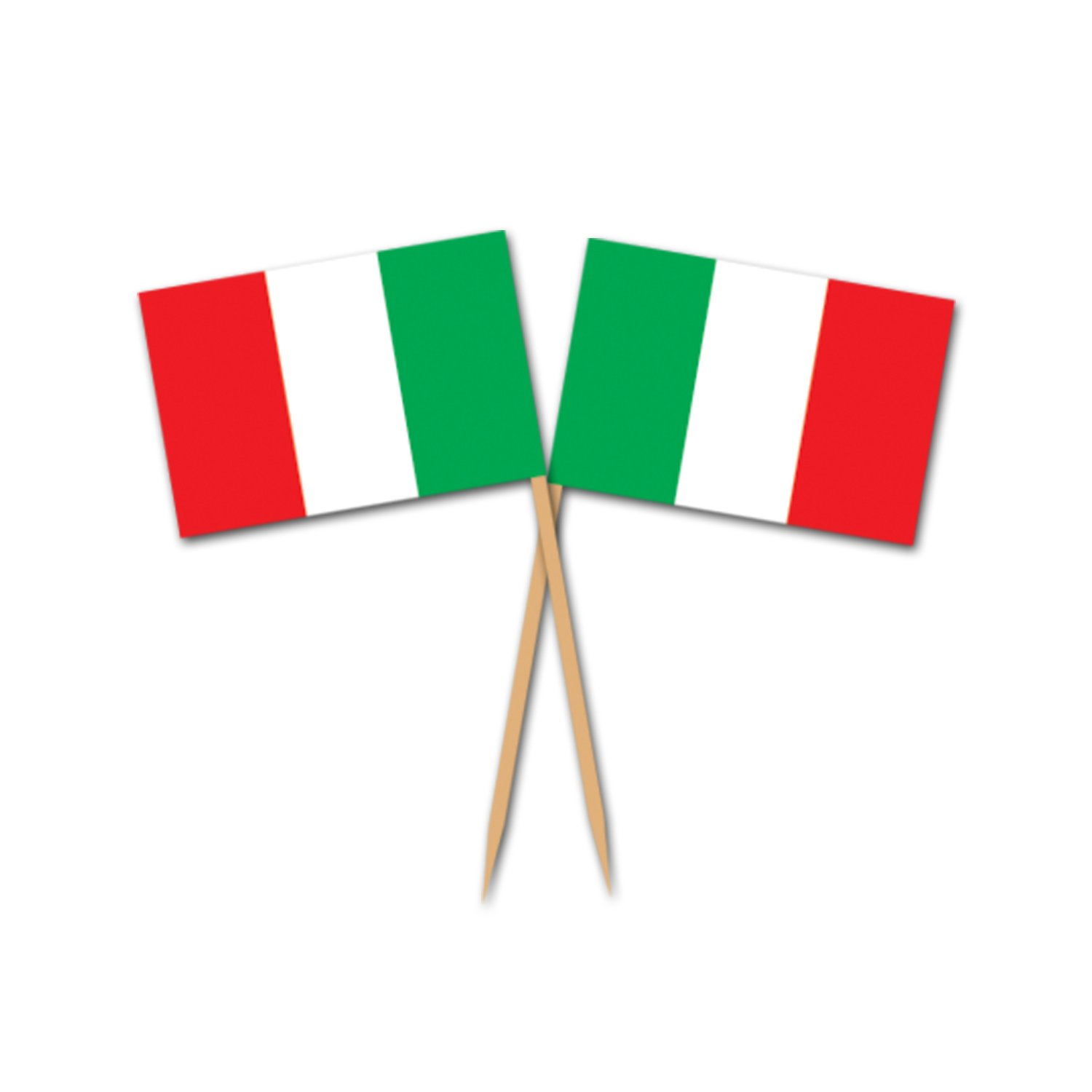 amazon com italian flag picks 50 pkg value 3 pack home u0026 kitchen