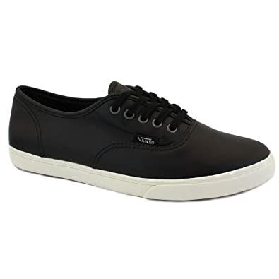 9bf559ad1926 Vans Aged Leather Authentic Lo Pro QES75I Womens Laced Leather Trainers  Black White - 8  Amazon.co.uk  Shoes   Bags