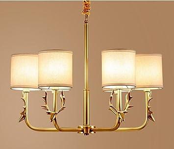 Erstaunlich XIAOJIA American Bronze Kronleuchter, Wohnzimmer Licht, Europäische  Einfache Tuch Zimmer Restaurant Kronleuchter, Moderne