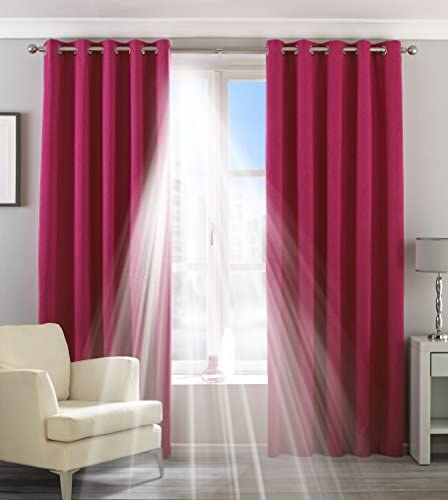 Riva Home Eclipse Blackout Eyelet Curtains 90 x 54in 229 x 137cm Pink