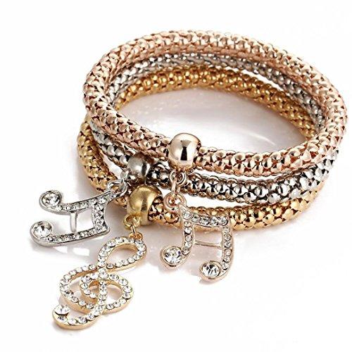 - JSPOYOU Bracelets for Women 1 Set 7Pcs Boho Wholesale Multilayer Acrylic Beads Beach Bracelet (D)