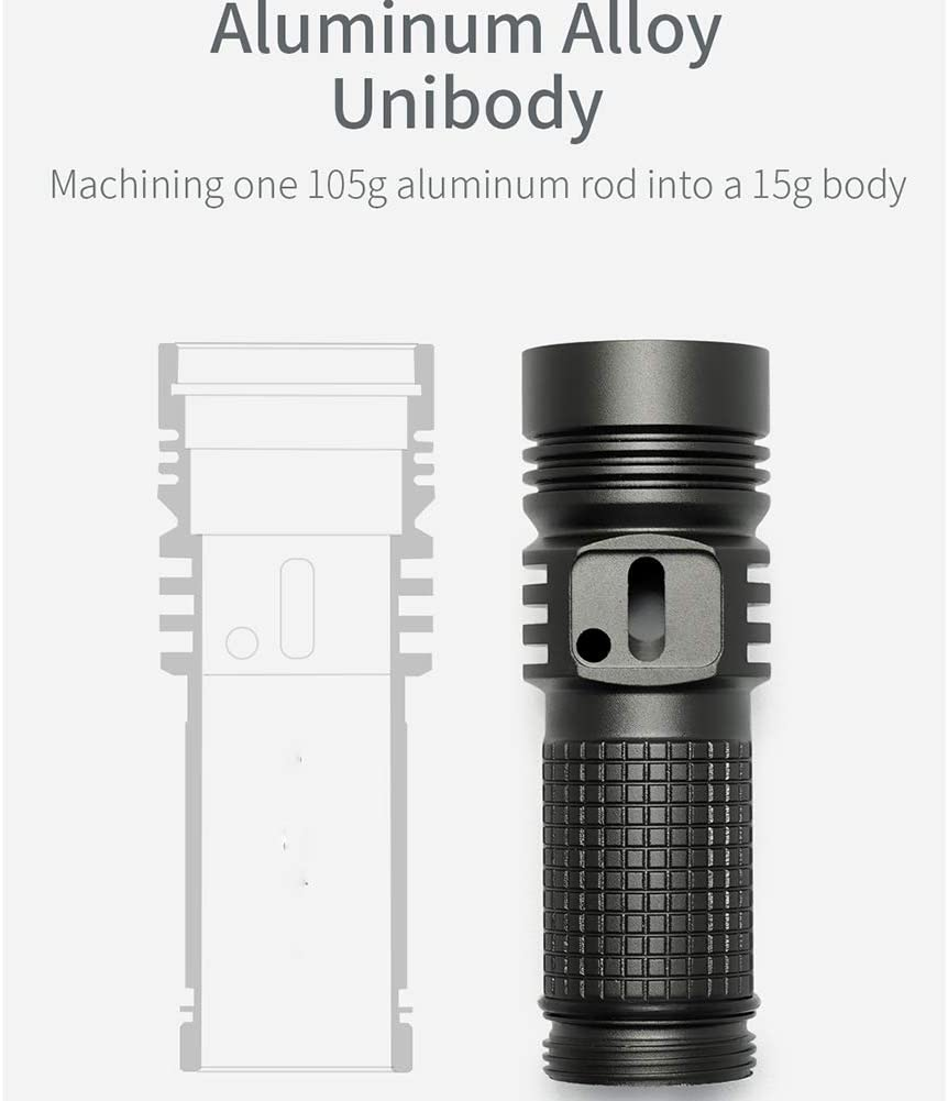 M3 Professional Type C Outdoor Waterproof Compact Flashlight 1020 LM Strong Light LED Mini Strong Light Flashlight USB Rechargeable Small Flashlight B
