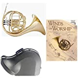 Band Directors Choice Single French Horn in F - Winds of Worship Pack; Includes Student French Horn, Case, Accessories & Winds of Worship Book