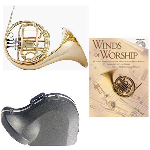 Band Directors Choice Single French Horn in F - Winds of Worship Pack; Includes Student French Horn, Case, Accessories & Winds of Worship Book by French Horn Packs