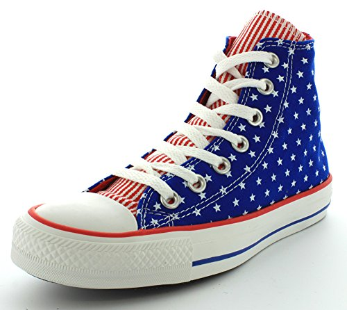Converse Women's Chuck Taylor All Star Femme Plus Star Hi Trainers Blue Red OdcQpV8ZzR