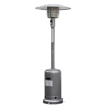 Amazon.com : Garden Outdoor Patio Heater Propane Standing LP Gas Steel w/accessories Silver Gray : Garden & Outdoor