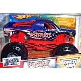 2011 THE PATRIOT - 1:24 Scale (Large Version) Hot Wheels Monster Jam Truck with Monster Tires, Working Suspension and 4 Wheels Steering