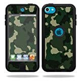 Mightyskins Protective Vinyl Skin Decal Cover for OtterBox Defender Apple iPod Touch 5G 5th Generation Case Green Camo