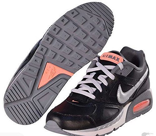 Nike Air Women's Max Ivo Leather Basketball shoes-Black