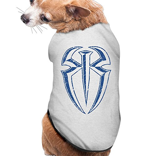 [Roman Reigns Empire Summer Costumes, Clothing, Shirt, Vest, T-shirt, Puppy Pet Dog Cat Fashion 100% Polyester Fiber Tee Gift For Any Animal Fan Lovers Ash] (Roman Empire Costumes)