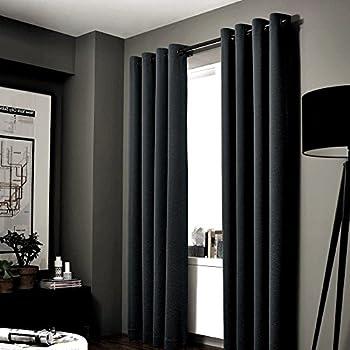 Amazon.com: Deconovo Black Thermal Insulated Blackout Panel Curtain ...