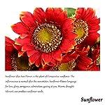 StarLifey-5-PCS-Beauty-Fake-Sunflowers-Artificial-Silk-Flower-Bouquet-Home-Garden-Fence-Decoration-Orange-Red
