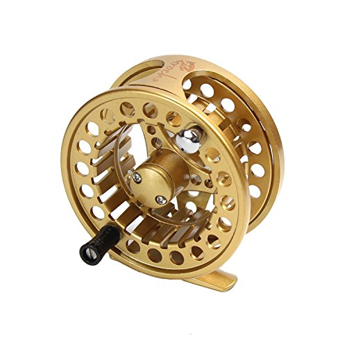 (Croch Fly Fishing Reel with CNC-machined Aluminum Alloy Body 5/6 Gold)