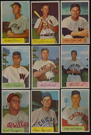 1954 Bowman Baseball Exmtexmt Lot 16 Different Hi Grade Cards Bv