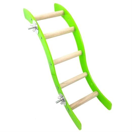 XYBB Juguetes para Pajaros Mascota Onda Forma Escalera Juguete para Loro Hamster Chinchilla Escalada Verde: Amazon.es: Productos para mascotas