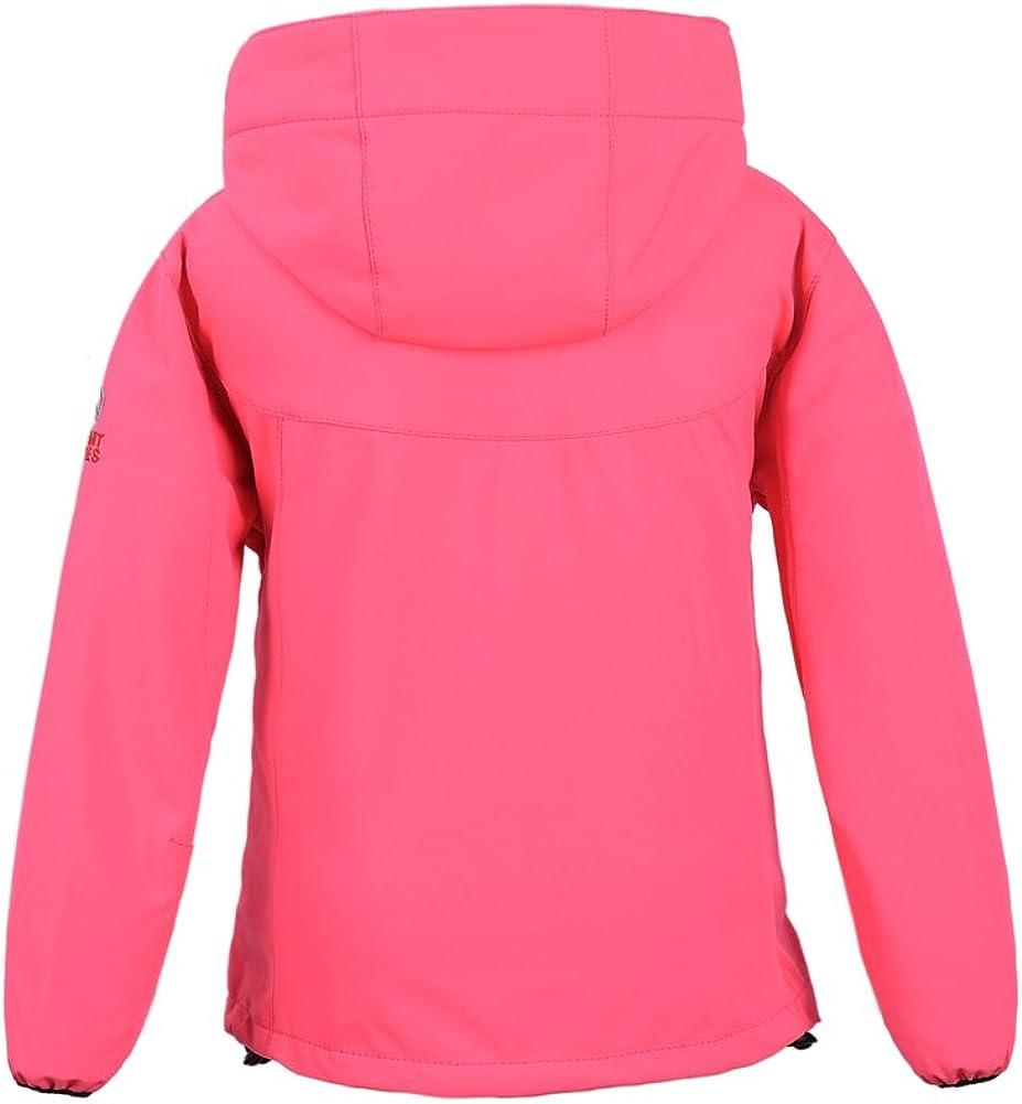 M2C Boys Girls Hooded Windbreaker Fleece Lined Softshell Jacket