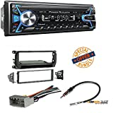 power acoustik wiring harness - Power Acoustik 1-DIN With 32GB USB/SD/AUX/Bluetooth +Radio Stereo Install Dash Kit + wire harness And antenna adapter for Jeep Grand Cherokee (02-04), Liberty (02-07), Wrangler (03-06)