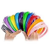 3D Pen Filament Refill Pack – 1.75mm ABS 420 Linear Feet – Brighten Your Life With 13 Different ABS Filament Colors Including a Glow in the Dark FREE 50 Stencil E-book by Blue Orient