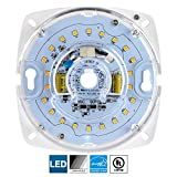Diodesy LED Retrofit Light Engine, 4-Inch, 5000K Super White, 17 Watt, Dimmable, Flush Ceiling Fixture LED Upgrade Panel, Energy Star Compliant, 90 CRI
