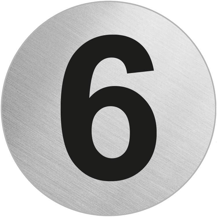 OFFORM Se/ñal pictograma en acero inox /Ø 60 mm No.7294-1N/úmero 1