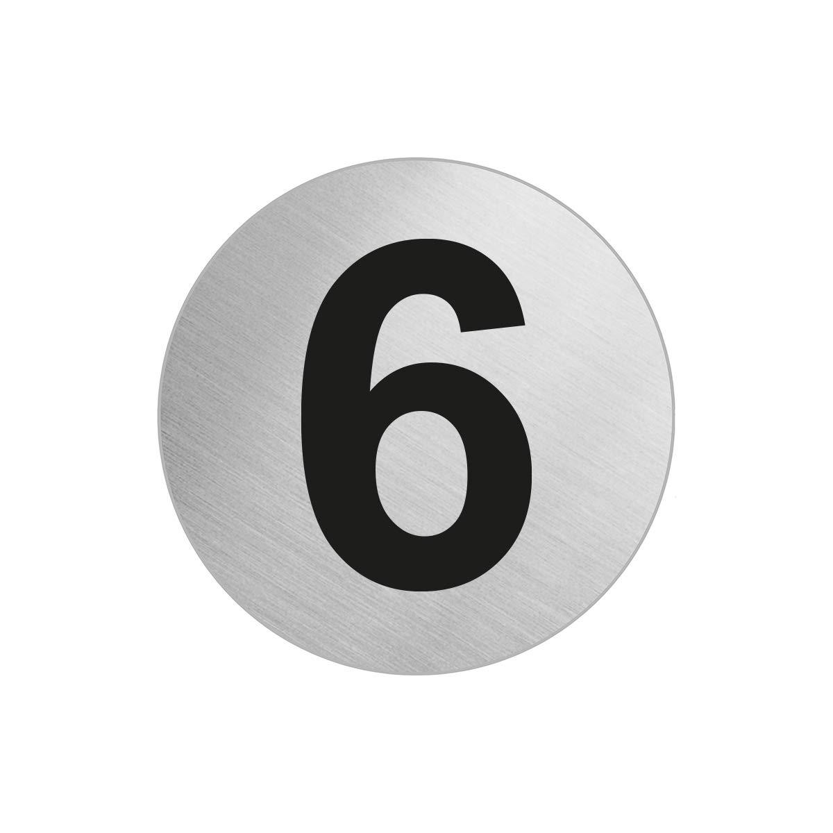 OFFORM Stainless Steel Door Number '6 / Six' Ø 60 mm 7294-6