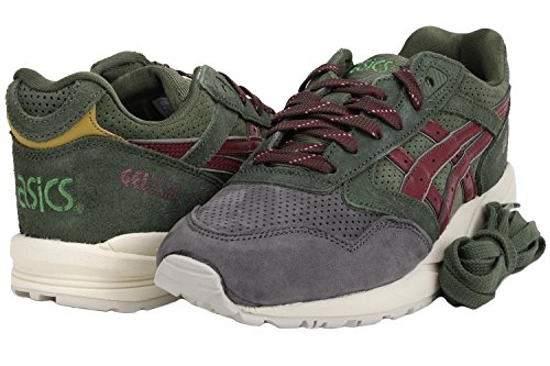 Asics Gel Saga Men's Trainers - Dark green/Burgundy - H41VK 8026