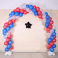 NW 1776 Large Balloon Arches Solutions 12FT Tall & 17Ft Wide Adjustable Wide Luxury Aluminum Foil Balloons & Latex Balloons - for Birthday, Wedding, Events, Party Decoration(Latex balloon arches suit)