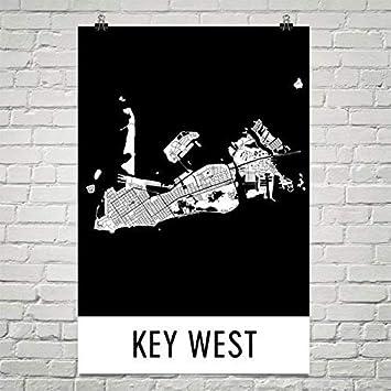 Map Key West Florida.Amazon Com Key West Poster Key West Art Print Key West Wall Art
