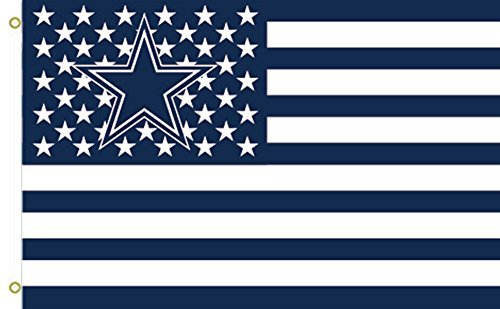 Dallas Cowboys Stars and Stripes 017732 Flying Flag 3x5 Feet