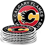 Mustang Products Calgary Flames 8 Pack Team Logo Coaster Set