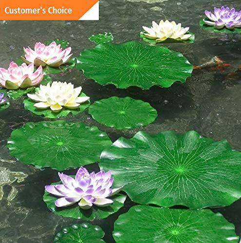 Hebel Artificial Fake Lotus Leaves Leaf Water Lily Floating Pool Plants Garden Decor | Model ARTFCL - 408 | 10CM