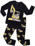 Excavator Pajamas For Boys Children Truck PJs Kids Christmas Gift Pants Set Size 3 Years
