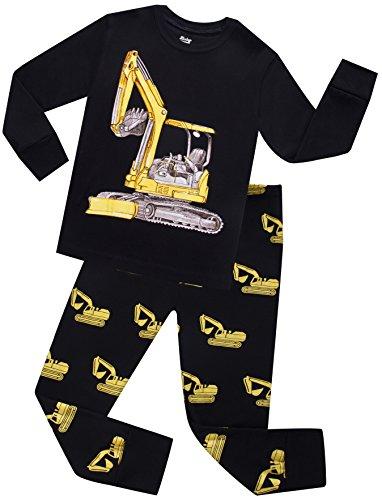 Excavator Pajamas For Boys Children Truck PJs Kids Christmas Gift Pants Set Size 2 Years