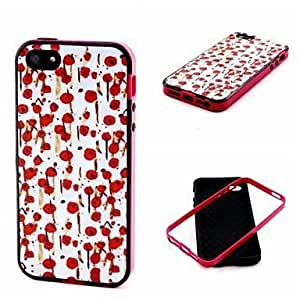 2-in-1 Hand Painted Rose Pattern TPU Back Cover with PC Bumper Shockproof Phones Soft Case for iphone 6 plus