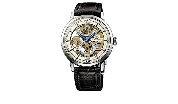 Amazon.com: ORIENT STAR Flagship Skeleton Power Reserve Spherical Sapphire Gold Watch DX02002S: Watches