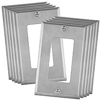 Enerlites 7701-7711-7721-7731-10PCS Stainless Steel Wall Plate, Standard Size