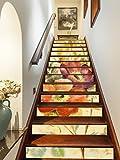 3D Beautiful Flowers Painting 0695 Stair Risers Decoration Photo Mural Vinyl Decal Wallpaper Murals Wallpaper Mural US Lemon (15x H:18cm x W:94cm (7''x37''))