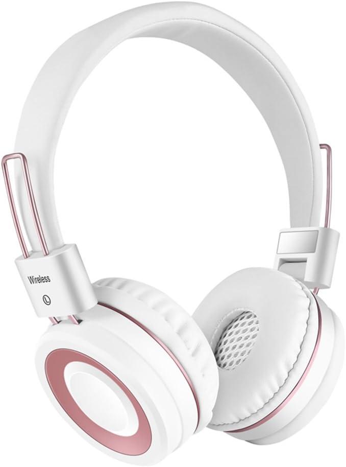 Audífonos inalámbricos Bluetooth de Audiometry, con micrófono, plegables, suaves y con proteínas de memoria, auriculares inalámbricos deportivos, con cable e inalámbricos para teléfono celular/TV/PC (negro): Amazon.es: Electrónica
