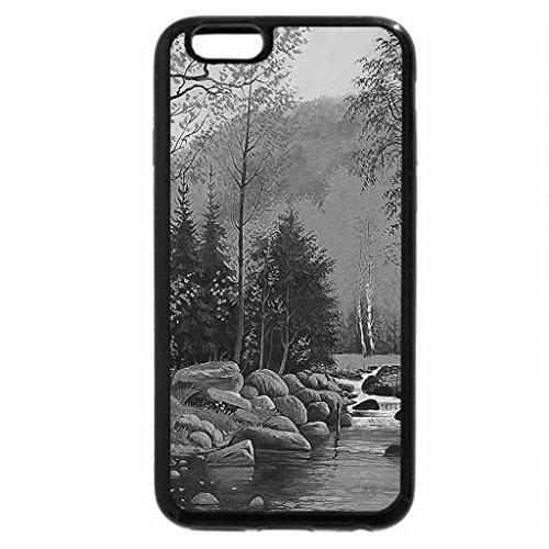 iPhone 6S Plus Case, iPhone 6 Plus Case (Black & White) - Lonesome river