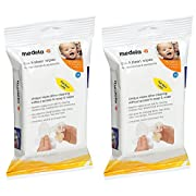 Medela Quick UJRNq Clean Breast Pump and Accessory Wipes, 24 Count (2 Pack)