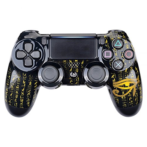eXtremeRate Eye of Providence Origins Hydro Dipped Front Housing Shell Case, Faceplate Cover Replacement Kit for Playstation 4 PS4 Slim PS4 Pro Controller (CUH-ZCT2 JDM-040 JDM-050 JDM-055)