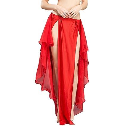 ROYAL SMEELA Falda de Traje de Danza del Vientre Faldas de Gasa de ...
