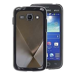 A-type Arte & diseño plástico duro Fundas Cover Cubre Hard Case Cover para Samsung Galaxy Ace 3 (Metal Minimalist Silver Pattern)