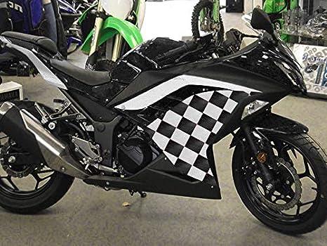 Moto Onfire Fairings Kit Fit for Kawasaki Ninja 300 EX300R ZX300R 2013 2014 2015 2016 Black Flame White