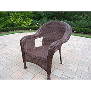Oakland Living Corporation Calabasas Resin Wicker Arm Chairs (2 Pack)